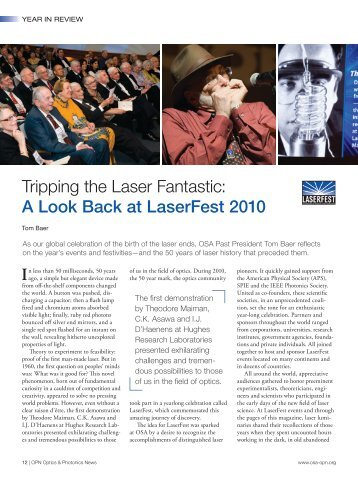 Tripping the Laser Fantastic: A Look Back at LaserFest 2010