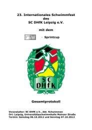 23. Internationales Schwimmfest des SC DHfK ... - SV Weixdorf eV