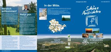 Arrangementflyer 2010.indd - Ringberg Resort Hotel