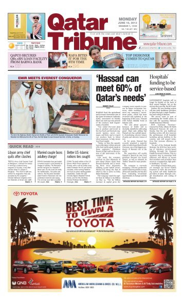 'Hassad can meet 60% of Qatar's needs' - Qatar Tribune