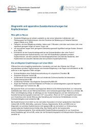 Diagnostik und apparative Zusatzuntersuchungen bei Kopfschmerzen