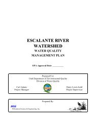 escalante river watershed - Division of Water Quality - Utah.gov