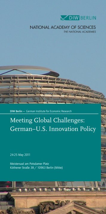Meeting Global Challenges: German–U.S. Innovation Policy - BIGS