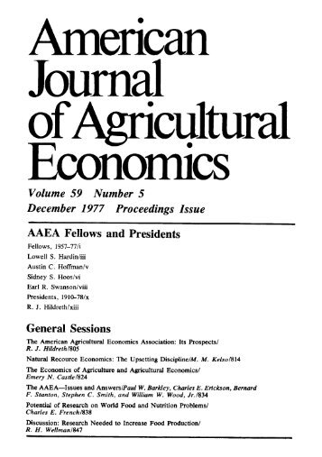 PDF - American Journal of Agricultural Economics