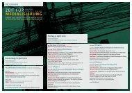 medialisierung - Berlin Graduate School Muslim Cultures and ...