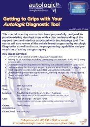 OTH008 Getting To Grips With Your Autologic Diagnostics Tool ...