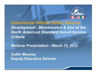 OOSC Webinar Presentation March 15, 2012 - Commercial Vehicle ...