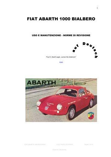 FIAT ABARTH 1000 BIALBERO - Abarth-e-Co