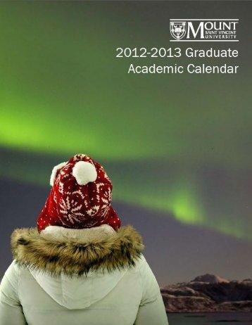 2012-2013 - Mount Saint Vincent University