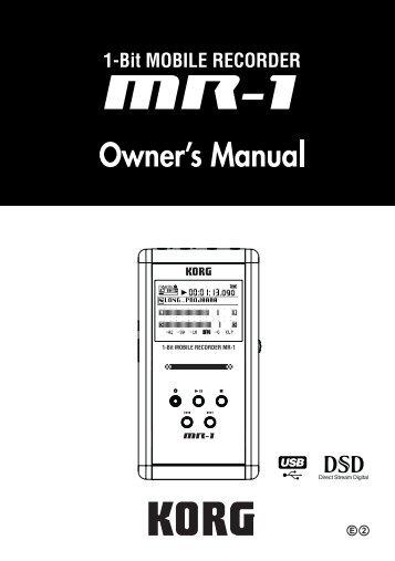 To Download: MR1_OM_E2.pdf - Korg
