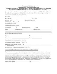 Authorization of Medication Consent Form - Farmington Public ...