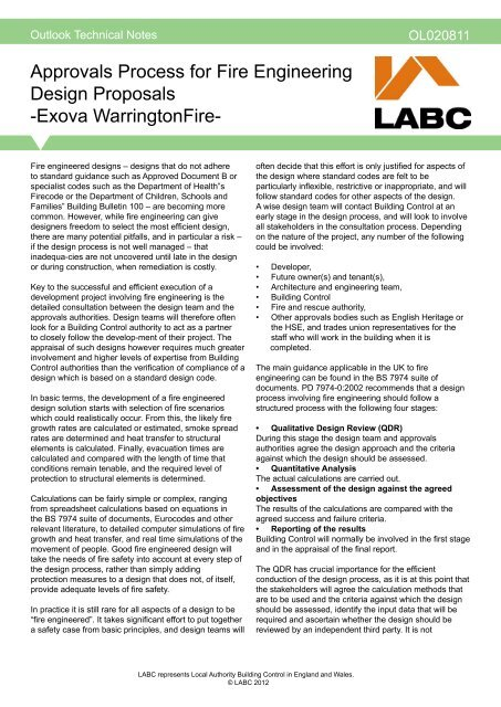Approvals Process For Fire Engineering Design Proposals Labc