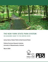 the new york state park system - Political Economy Research ...
