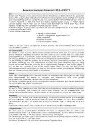 Reiseinformationen Frankreich 25.8.-6.9.2011 - Evangelische ...
