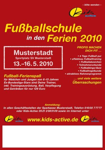 Flyer Anmeldung neutral.indd - kids - active