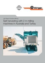 Job Report Surface Mining Salt Harvesting With 2 - Wirtgen GmbH