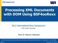 Processing XML Documents with DOM Using BSF4ooRexx