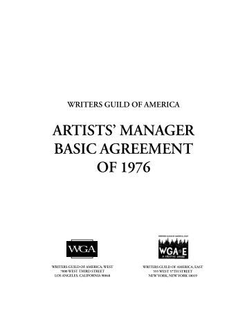 Minimum Basic Agreement  Writers Guild Of America West