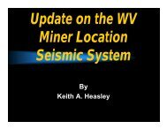 By Keith A. Heasley - West Virginia Office of Miners