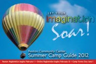 Summer Camp Guide 2012 - Reston Community Center