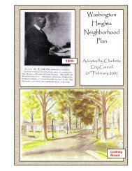 Washington Heights Neighborhood Plan - Charlotte-Mecklenburg ...