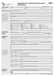 personal information application form - NZ Transport Agency