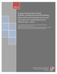 School Leadership Evaluation - Orange County Public Schools
