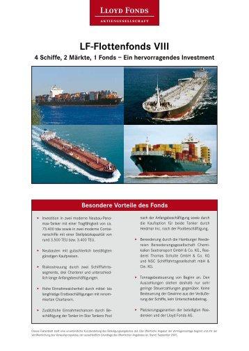 LF-Flottenfonds VIII 4 Schiffe, 2 Märkte, 1  Fonds – Ein ... - Berg, Bernd