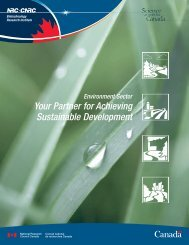 Sector's brochure (pdf) - National Research Council Canada