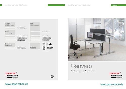 Assmann Büromöbel Prospekt Canvaro ... - Pape+Rohde