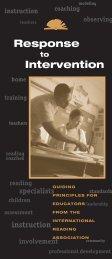 Guiding Principles - International Reading Association