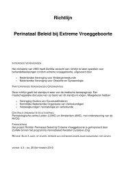 Richtlijn Perinataal Beleid bij Extreme Vroeggeboorte - NVOG