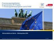 Finanzierungsmöglichkeiten für gemeinsame IKT-Projekte 7 ...