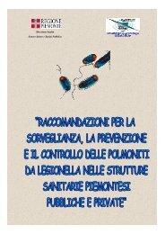 Raccomandazioni per la sorveglianza, la prevenzione e ... - Legionella