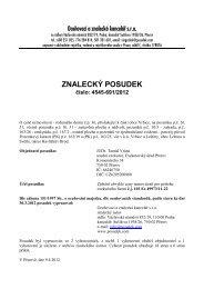 ZNALECKÝ POSUDEK číslo: 4545-691/2012 - OKdrazby.cz