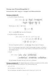 Lösung zum Präsenzübungsblatt 2