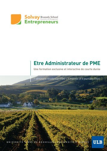 Brochure Admin. 2011 - Solvay Brussels School - Economics ...