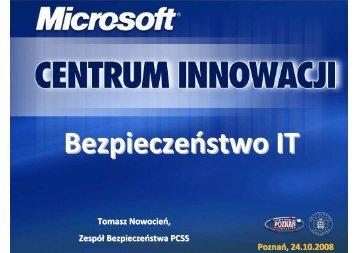 Tomasz Nowocień - Centrum Innowacji Microsoft