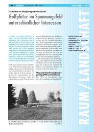 Golfplätze im Spannungsfeld unterschiedlicher ... - Kanton Zürich