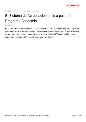 El Sistema de Acreditación paso a paso: el ... - Noticias Universia