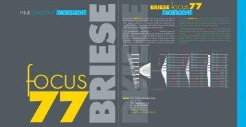 BRIESE focus77 TAGESLICHT DAYLIGHT HMI TAGESLICHT