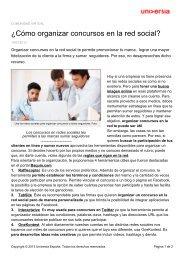 ¿Cómo organizar concursos en la red social? - Noticias Universia
