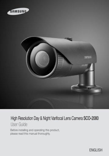 High Resolution Day & Night Varifocal Lens Camera ... - Samsung