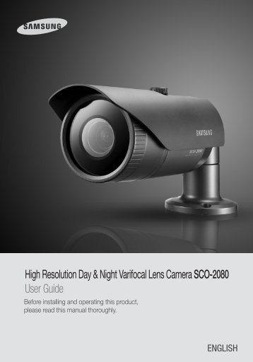 High Resolution Day & Night Varifocal Lens Camera ... - Samsung