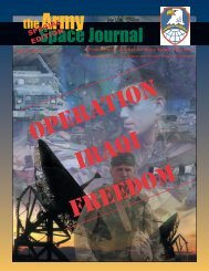 Volume 2, Number 3 - Space and Missile Defense Command - U.S. ...