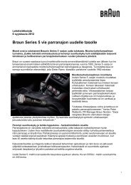 Braun Series 5 vie parranajon uudelle tasolle - Cision