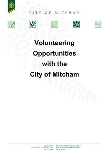 Volunteering Opportunities with the City of Mitcham