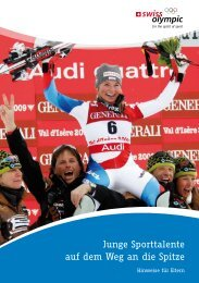 Junge Sporttalente auf dem Weg an die Spitze - Swiss Olympic