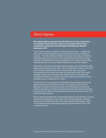 """see Global Litigation/""""The US - Skadden"""