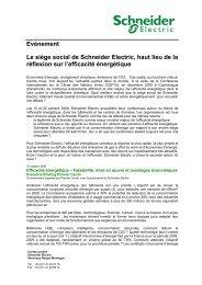 Lire la présentation des événements - Schneider Electric